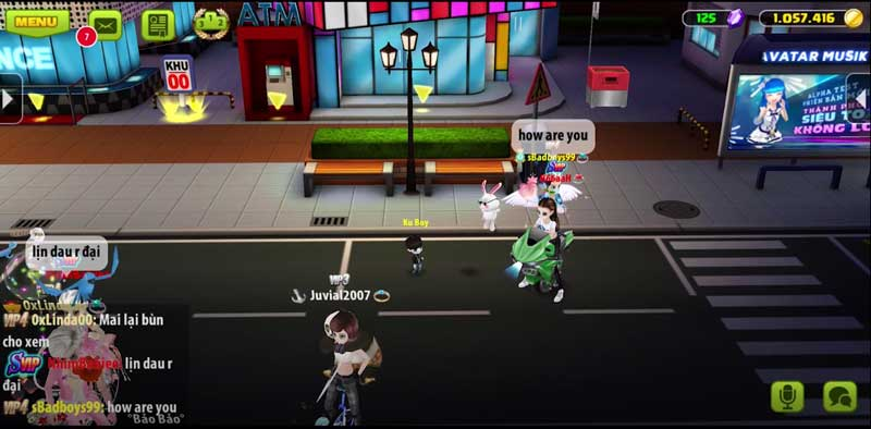 Giao diện game Avatar Musik